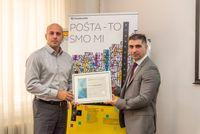 Certifikat Poslodavac Partner za najvećeg poslodavca u Hrvatskoj – Hrvatsku poštu