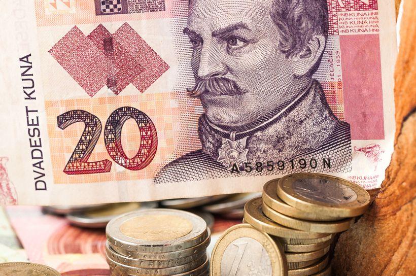 Novčanica od 20 kuna i kovanice u eurima