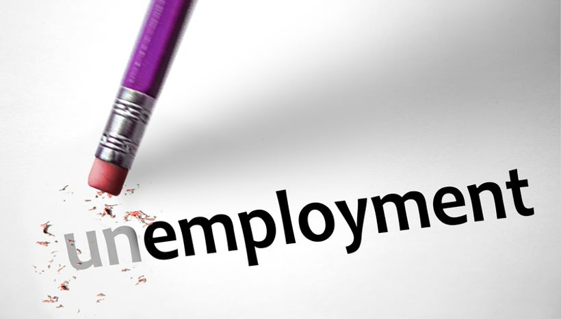 gumica briše prva dva slova riječi 'unemployment'